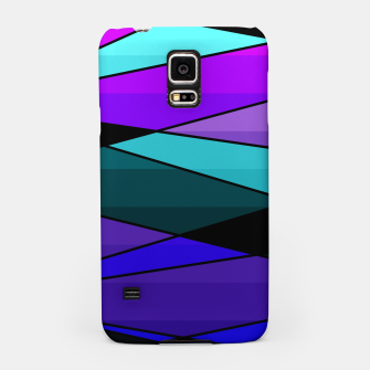 Miniatur Abstract, geometric pattern, pink , turquoise , blue Samsung Case, Live Heroes