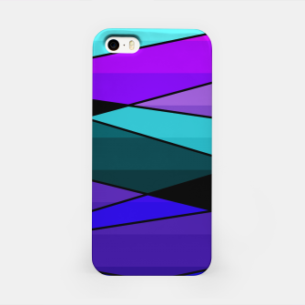 Miniatur Abstract, geometric pattern, pink , turquoise , blue iPhone Case, Live Heroes