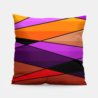 Miniatur Abstract, geometric pattern, pink , turquoise , blue Pillow, Live Heroes