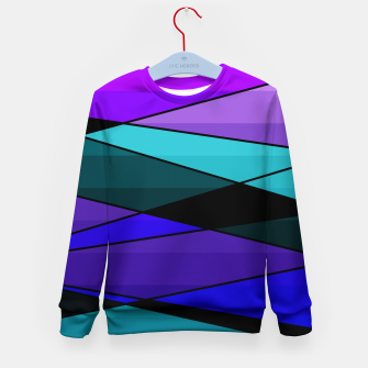 Miniatur Abstract, geometric pattern, pink , turquoise , blue Kid's sweater, Live Heroes
