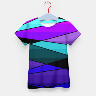 Miniatur Abstract, geometric pattern, pink , turquoise , blue Kid's t-shirt, Live Heroes