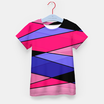 Miniaturka Abstract modern geometry triangles decor shapes print pink violet blue Kid's t-shirt, Live Heroes