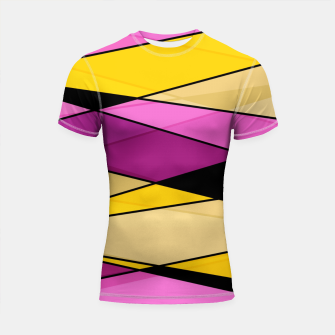 Miniature de image de Abstract modern geometry triangles decor shapes print Shortsleeve rashguard, Live Heroes