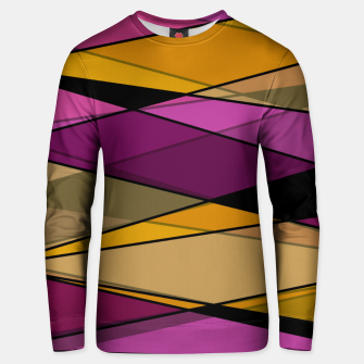 Miniaturka Abstract modern geometry triangles decor shapes print Unisex sweater, Live Heroes