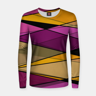 Miniature de image de Abstract modern geometry triangles decor shapes print Women sweater, Live Heroes