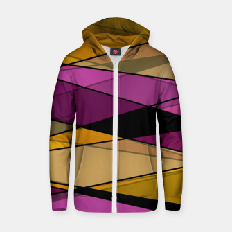 Miniature de image de Abstract modern geometry triangles decor shapes print Zip up hoodie, Live Heroes