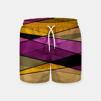 Miniaturka Abstract modern geometry triangles decor shapes print Swim Shorts, Live Heroes
