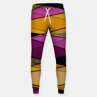 Miniature de image de Abstract modern geometry triangles decor shapes print Sweatpants, Live Heroes