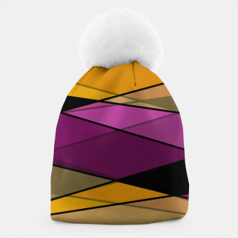 Miniature de image de Abstract modern geometry triangles decor shapes print Beanie, Live Heroes