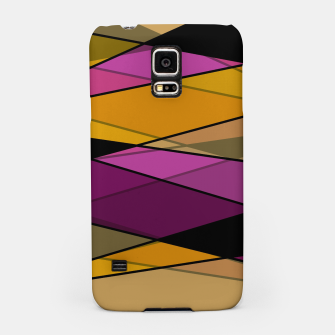 Miniaturka Abstract modern geometry triangles decor shapes print Samsung Case, Live Heroes