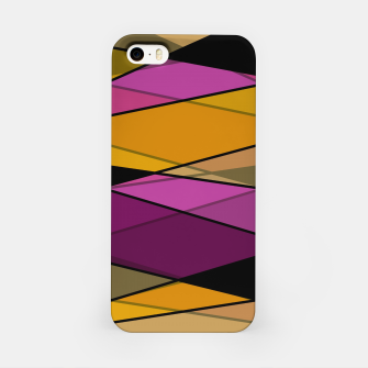 Miniature de image de Abstract modern geometry triangles decor shapes print iPhone Case, Live Heroes