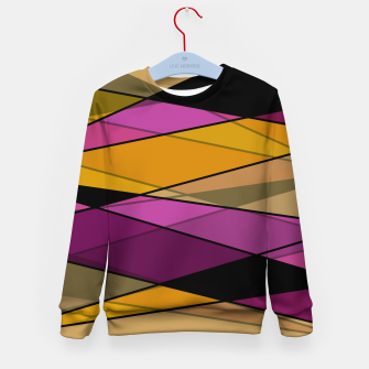 Miniaturka Abstract modern geometry triangles decor shapes print Kid's sweater, Live Heroes