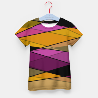 Miniaturka Abstract modern geometry triangles decor shapes print Kid's t-shirt, Live Heroes