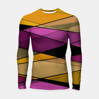 Miniaturka Abstract modern geometry triangles decor shapes print Longsleeve rashguard , Live Heroes