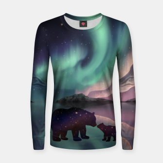 Thumbnail image of Aurora Bearealis Women sweater, Live Heroes