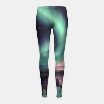 Thumbnail image of Aurora Bearealis Girl's leggings, Live Heroes