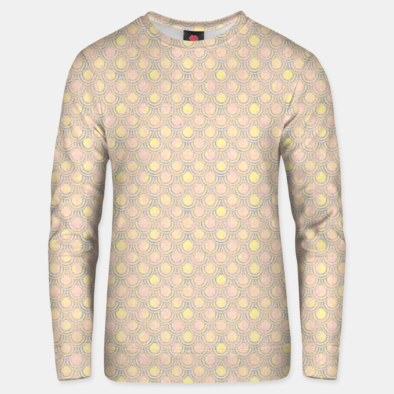 Zdjęcie Magical mermaid, fish scales in delicate pastel salmon pink color Unisex sweater - Live Heroes