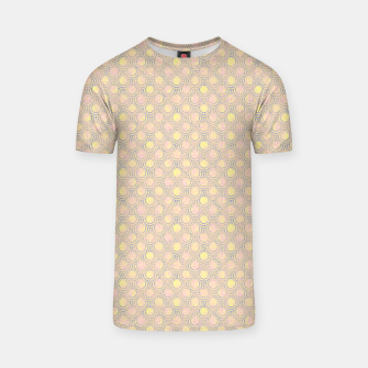 Thumbnail image of Magical mermaid, fish scales in delicate pastel salmon pink color T-shirt, Live Heroes