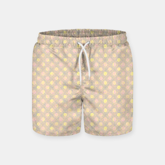 Miniaturka Magical mermaid, fish scales in delicate pastel salmon pink color Swim Shorts, Live Heroes
