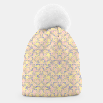Miniaturka Magical mermaid, fish scales in delicate pastel salmon pink color Beanie, Live Heroes