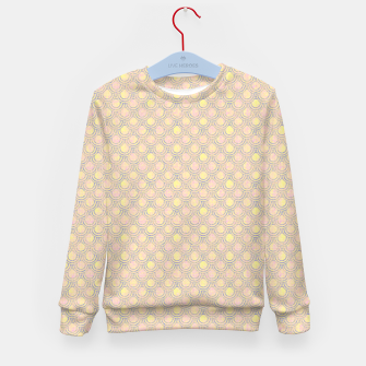 Miniatur Magical mermaid, fish scales in delicate pastel salmon pink color Kid's sweater, Live Heroes