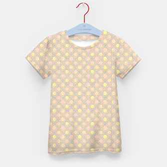 Miniatur Magical mermaid, fish scales in delicate pastel salmon pink color Kid's t-shirt, Live Heroes
