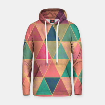 Thumbnail image of Triangle tiles, multicolor geometric pattern with stone effect Hoodie, Live Heroes