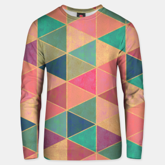 Miniatur Triangle tiles, multicolor geometric pattern with stone effect Unisex sweater, Live Heroes