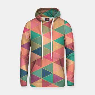 Miniatur Triangle tiles, multicolor geometric pattern with stone effect Hoodie, Live Heroes