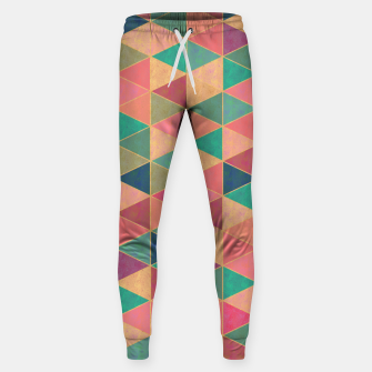 Miniatur Triangle tiles, multicolor geometric pattern with stone effect Sweatpants, Live Heroes