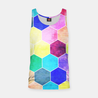 Thumbnail image of Honeycombs print, colorful hexagons lookalike bee cells Tank Top, Live Heroes
