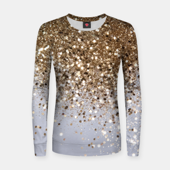 Thumbnail image of Sparkling Champagne Gold Glitter Glam #1 #shiny #decor #art  Frauen sweatshirt, Live Heroes