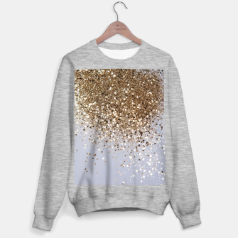 Thumbnail image of Sparkling Champagne Gold Glitter Glam #1 #shiny #decor #art  Sweatshirt regulär, Live Heroes