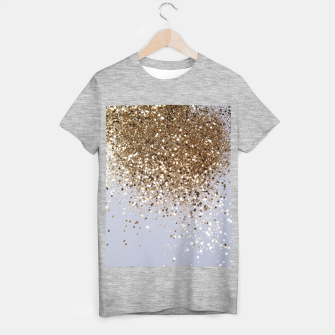 Thumbnail image of Sparkling Champagne Gold Glitter Glam #1 #shiny #decor #art  T-Shirt regulär, Live Heroes