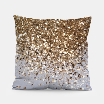 Thumbnail image of Sparkling Champagne Gold Glitter Glam #1 #shiny #decor #art  Kissen, Live Heroes
