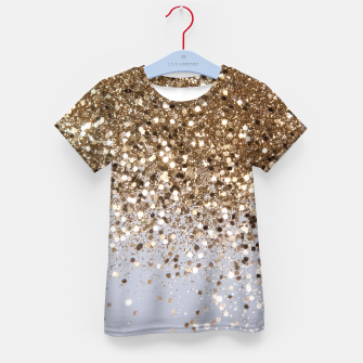 Thumbnail image of Sparkling Champagne Gold Glitter Glam #1 #shiny #decor #art  T-Shirt für kinder, Live Heroes