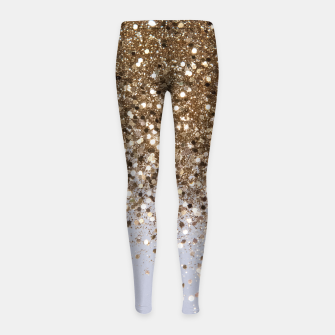 Thumbnail image of Sparkling Champagne Gold Glitter Glam #1 #shiny #decor #art  Kinder-Leggins, Live Heroes