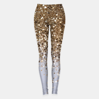 Thumbnail image of Sparkling Champagne Gold Glitter Glam #1 #shiny #decor #art  Leggings, Live Heroes