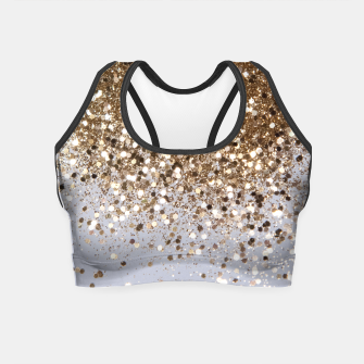 Thumbnail image of Sparkling Champagne Gold Glitter Glam #1 #shiny #decor #art  Crop Top, Live Heroes