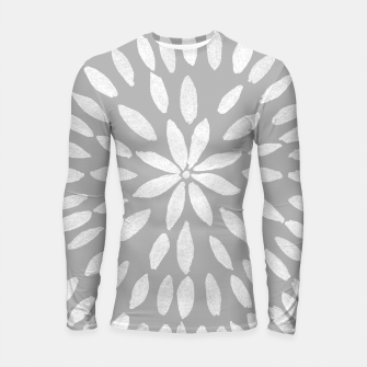 Thumbnail image of Mandala Flower #8 #gray #drawing #decor #art  Longsleeve rashguard, Live Heroes