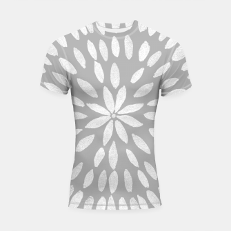 Thumbnail image of Mandala Flower #8 #gray #drawing #decor #art  Shortsleeve rashguard, Live Heroes