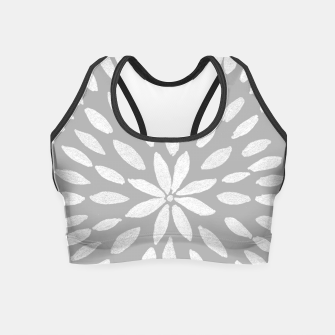 Thumbnail image of Mandala Flower #8 #gray #drawing #decor #art  Crop Top, Live Heroes
