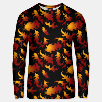 Thumbnail image of Abstract Flames Pattern Unisex sweater, Live Heroes