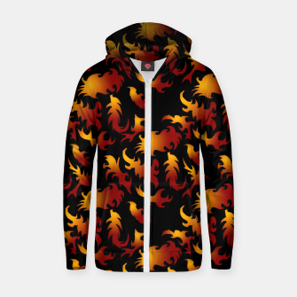 Thumbnail image of Abstract Flames Pattern Zip up hoodie, Live Heroes