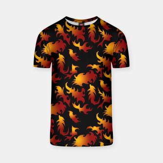 Thumbnail image of Abstract Flames Pattern T-shirt, Live Heroes