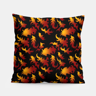 Thumbnail image of Abstract Flames Pattern Pillow, Live Heroes