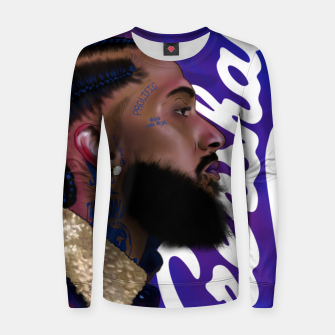 Thumbnail image of Nipsey Hussle Women sweater, Live Heroes