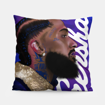 Thumbnail image of Nipsey Hussle Pillow, Live Heroes