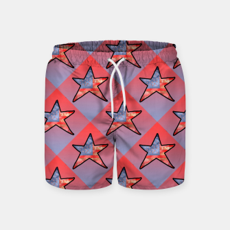 Thumbnail image of American Flag Star Swim Shorts, Live Heroes