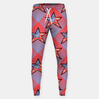 Thumbnail image of American Flag Star Sweatpants, Live Heroes